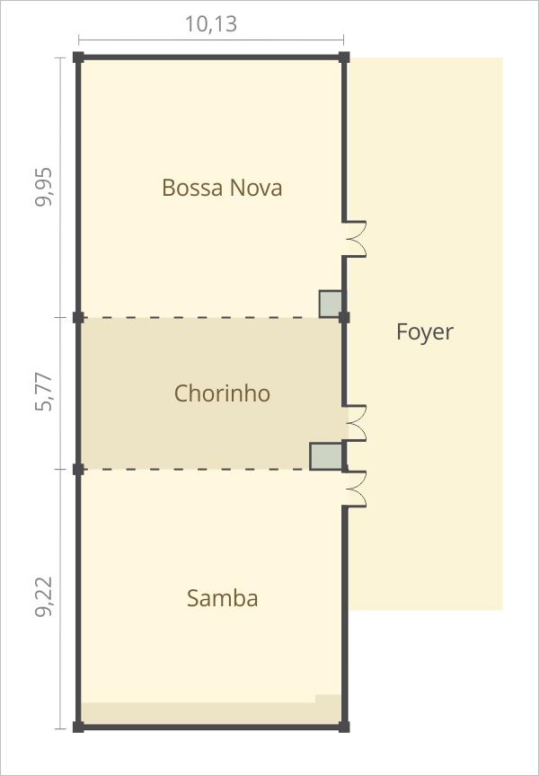 Allia Gran Hotel Brasília - Área de Eventos: Plantas do Piso Subsolo