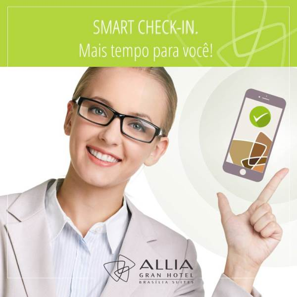 Smart Check-in no Allia Gran Hotel Brasília