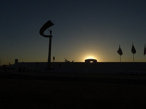Pôr-do-sol do Memorial JK - Brasília