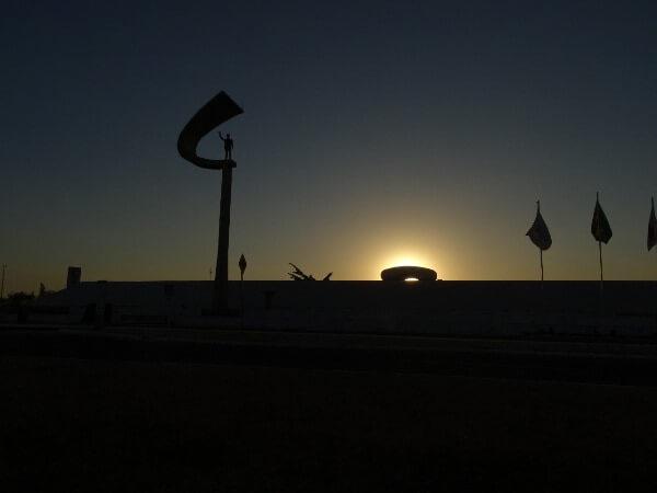 Pôr-do-sol do Memorial JK - Brasília