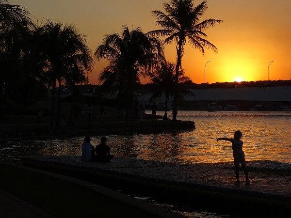 Pôr-do-sol do Pontão do Lago Sul - Brasília