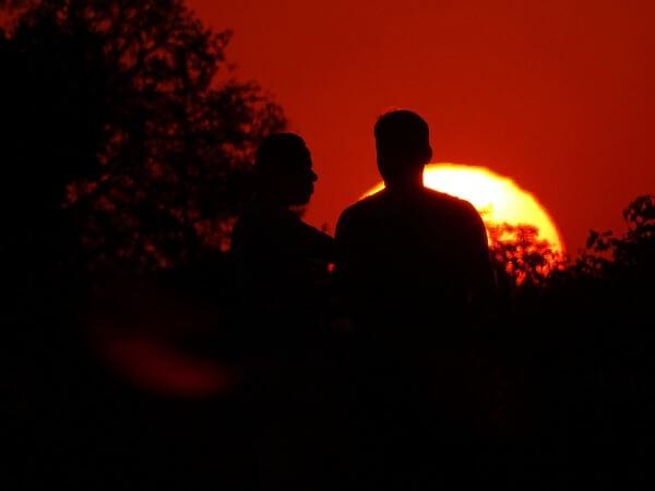 Pôr-do-sol na Praça do Cruzeiro - Brasília