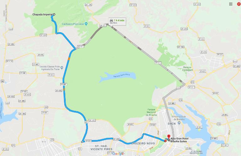 3.Cachoeira da Chapada Imperial – 51,7 km do Allia Gran Hotel Brasília